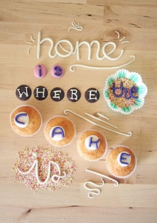9. Home is where the cake is
